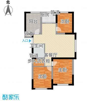 龙潭官邸17.00㎡高层D座1单元标准层D1户型3室2厅1卫
