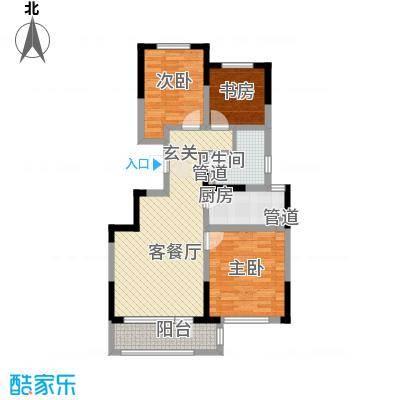 绿地卢浮公馆4期24678914号楼标准层F户型