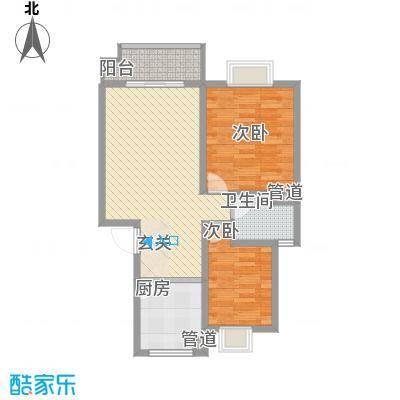 美林湾四和苑84.20㎡一期多层6#7#8#标准层A户型2室2厅1卫