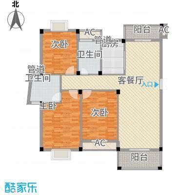 江南世家142.00㎡一期多层36#楼标准层5户型3室2厅2卫1厨