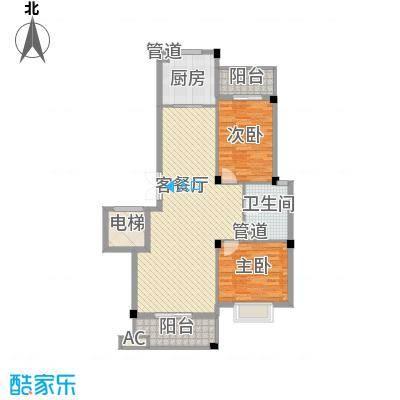 江南世家113.00㎡一期454749#小高层A户型2室2厅1卫1厨