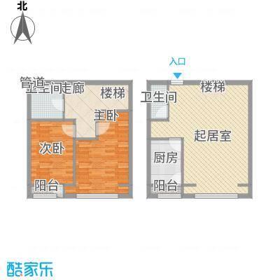 福顺江山1.26㎡跃层户型