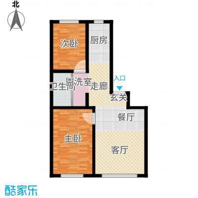 绿洲桃花源8.00㎡A户型2室1厅1卫1厨