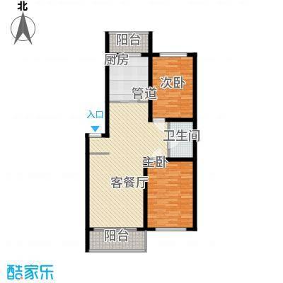 天鸿嘉园3#5#8#楼户型2室1厅1卫1厨