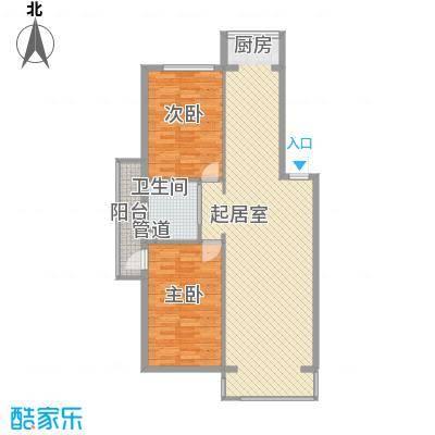 华天锦湖东郡18.00㎡A户型2室2厅1卫1厨