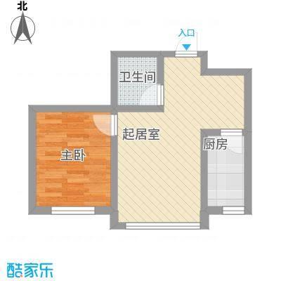红光秀苑56.80㎡二、三、四号2-13层K户型1室2厅1卫1厨