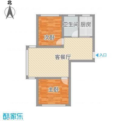 金地卡诗维亚78.68㎡2栋A1户型2室2厅1卫