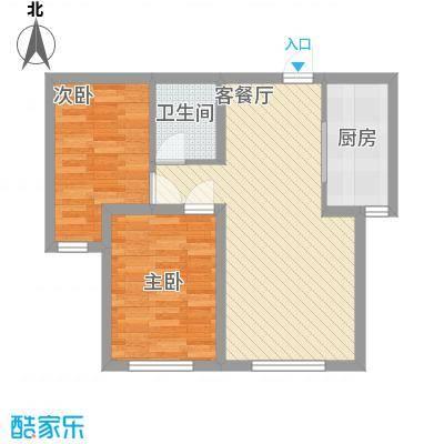 朝阳新苑74.45㎡D户型2室1厅1卫1厨