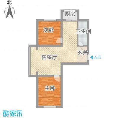 江岸龙苑7.00㎡A户型2室2厅1卫1厨