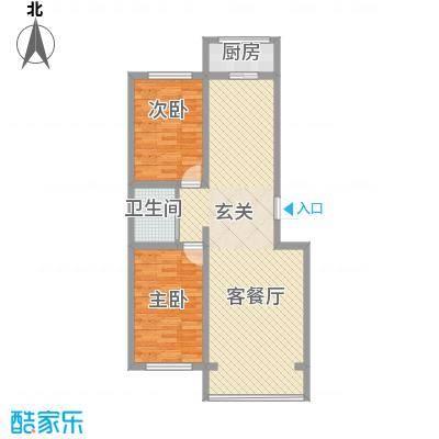 江岸龙苑6.00㎡F户型2室2厅1卫1厨