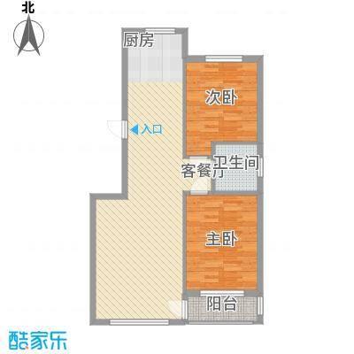 桃源山庄峰景11.00㎡户型3室2厅1卫