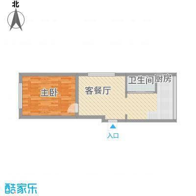 金岸名苑枫景轩55.00㎡A户型1室1厅