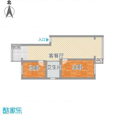 金岸名苑枫景轩64.00㎡D户型2室1厅