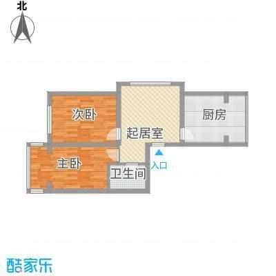 金岸名苑枫景轩75.00㎡B户型2室2厅