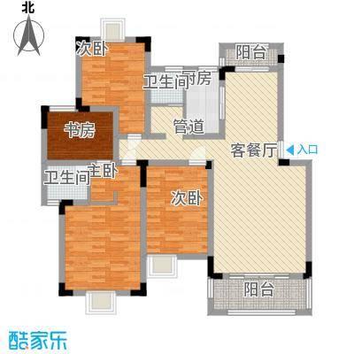水榭山142.00㎡一期D户型4室2厅2卫1厨
