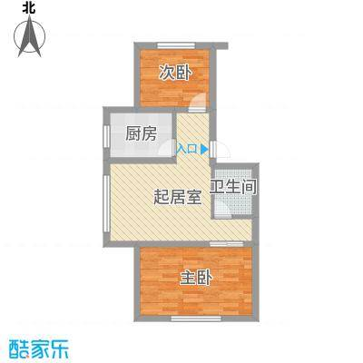 伊江丽景花园65.00㎡户型2室1厅1卫1厨