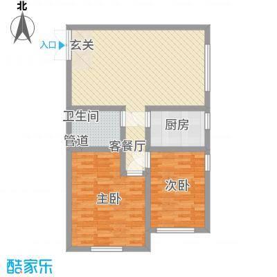 江华丽景88.40㎡F7户型2室2厅1卫