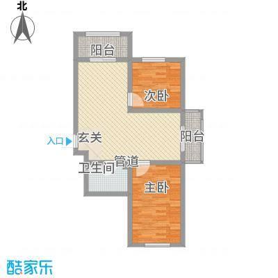 金丰紫馨花园77.00㎡75--80户型