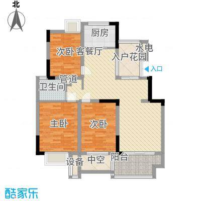 亚东朴园118.00㎡19、20、21、22号楼G户型