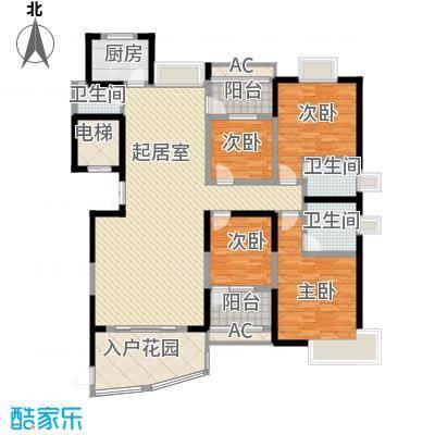 联泰香域尚城171.00㎡14#楼D5户型4室2厅3卫1厨
