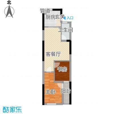 仙林悦城62.00㎡10、15幢标准层户型2室2厅1卫1厨