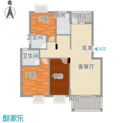 维也纳花园112.60㎡二期多层标准层F户型2室2厅2卫1厨