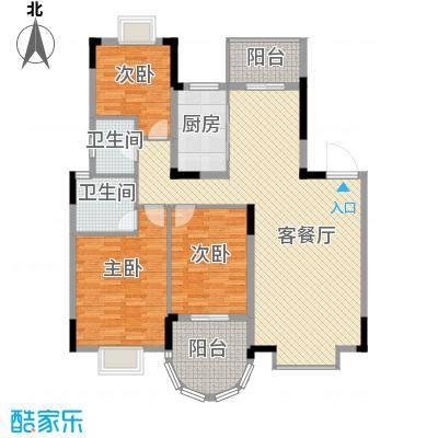 绿地海域香廷18.00㎡户型3室