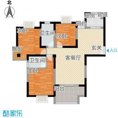 我家山水14.00㎡二期高层公寓5栋A1F户型3室2厅2卫1厨