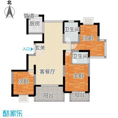 我家山水143.50㎡二期双拼别墅A1F户型3室2厅2卫1厨