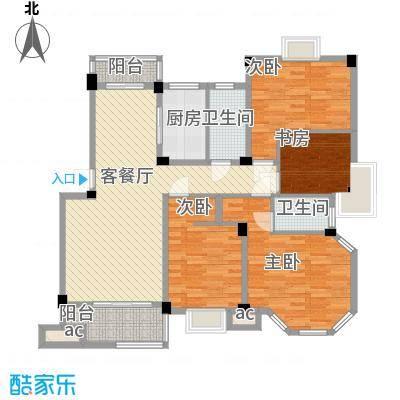 沃得雅苑144.00㎡户型4室2厅1卫1厨