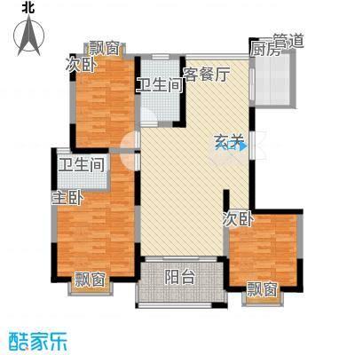 我家山水瑞雪苑142.50㎡户型3室2厅2卫1厨