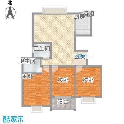 江南人家136.00㎡二期多层经典M户型3室2厅2卫1厨