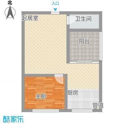 兴隆家园1#标准层C户型2室1厅1卫