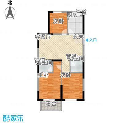 佳源广场112.00㎡奇数层户型3室2厅2卫1厨