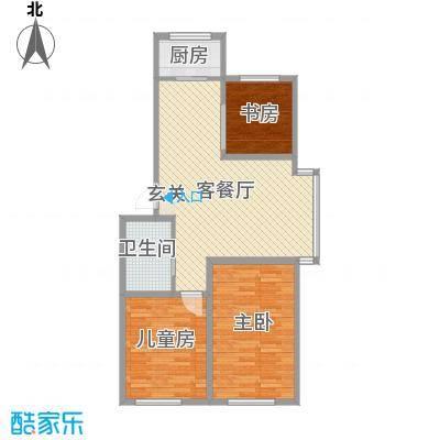 筑石居易d户型3室2厅1卫1厨