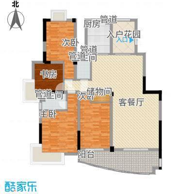 沃得城市中心176.00㎡二期小高层9#楼标准层K户型4室2厅2卫1厨