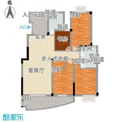 沃得城市中心183.00㎡二期小高层10#楼标准层L户型4室2厅2卫1厨
