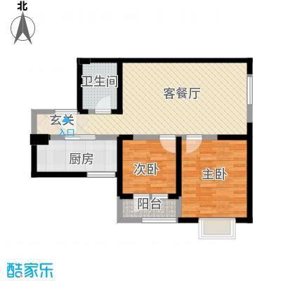 观锦一期高层4号楼标准层2N'户型