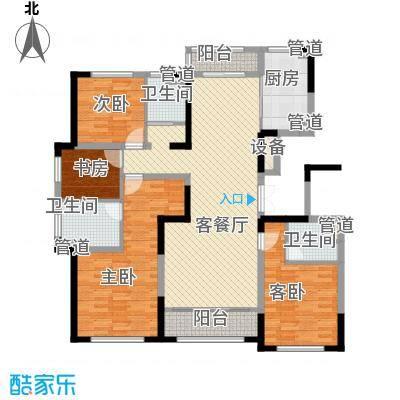 融创洞庭路壹号9、13、16、20号楼标准层D1户型