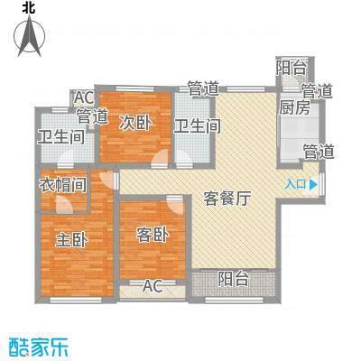 融创洞庭路壹号10-12、17-19号楼标准层C1户型