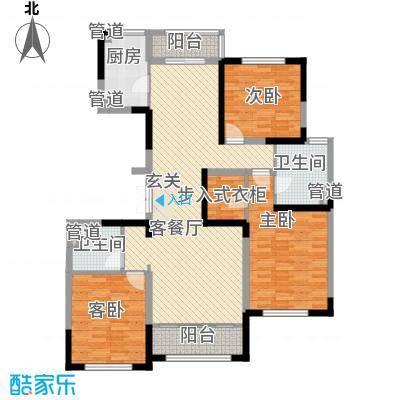 融创洞庭路壹号9、13、16、20号楼标准层D2户型