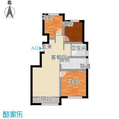 凤河孔雀城悦景堡花园洋房标准层D户型