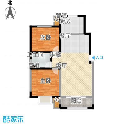 城投熙和园洋房1-4号楼标准层B户型