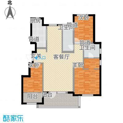凤河孔雀城洋房标准层C3户型