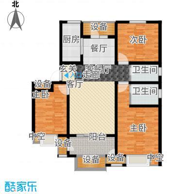 华府御墅洋房6号楼1层E-1户型