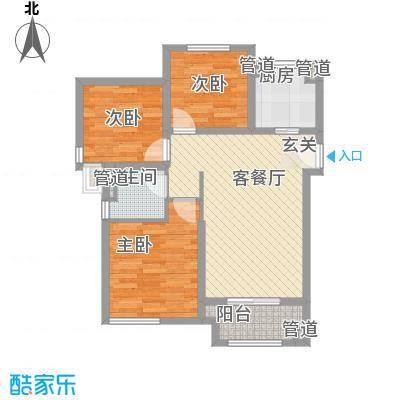 雍鑫红星华府高层62-66号楼标准层D2户型