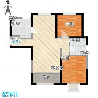 凤河孔雀城高层标准层A1户型