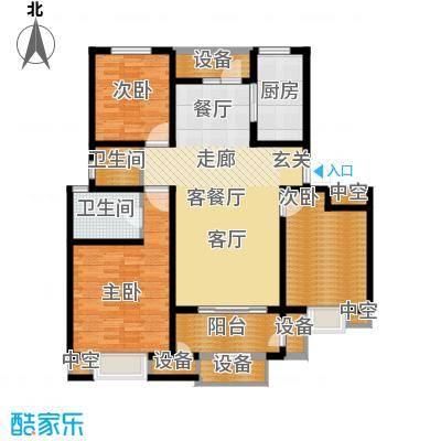 华府御墅洋房3、22、23、24号楼1层C2-1户型