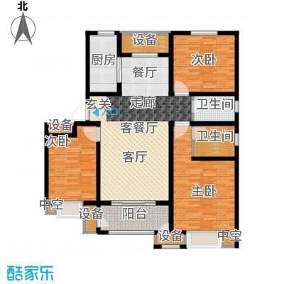 华府御墅洋房6号楼2-5层E户型
