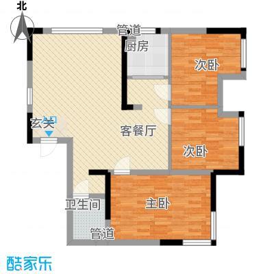 万炬智汇城一期国际公寓C区标准层E户型